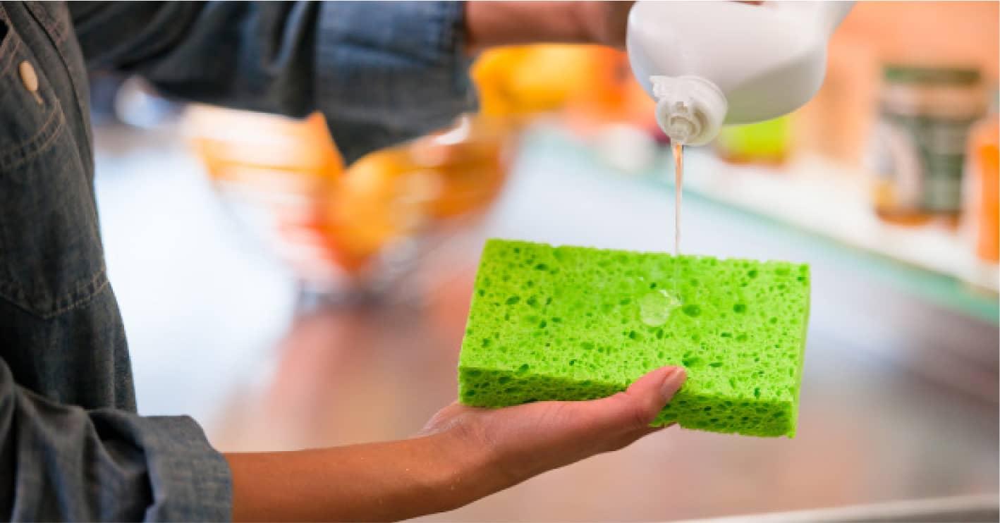 Моющее средство с мочалкой